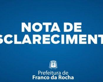 Nota de esclarecimento da prefeitura de Franco da Rocha sobre o retorno às aulas presenciais