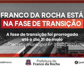 Franco da Rocha prorroga Fase Emergencial